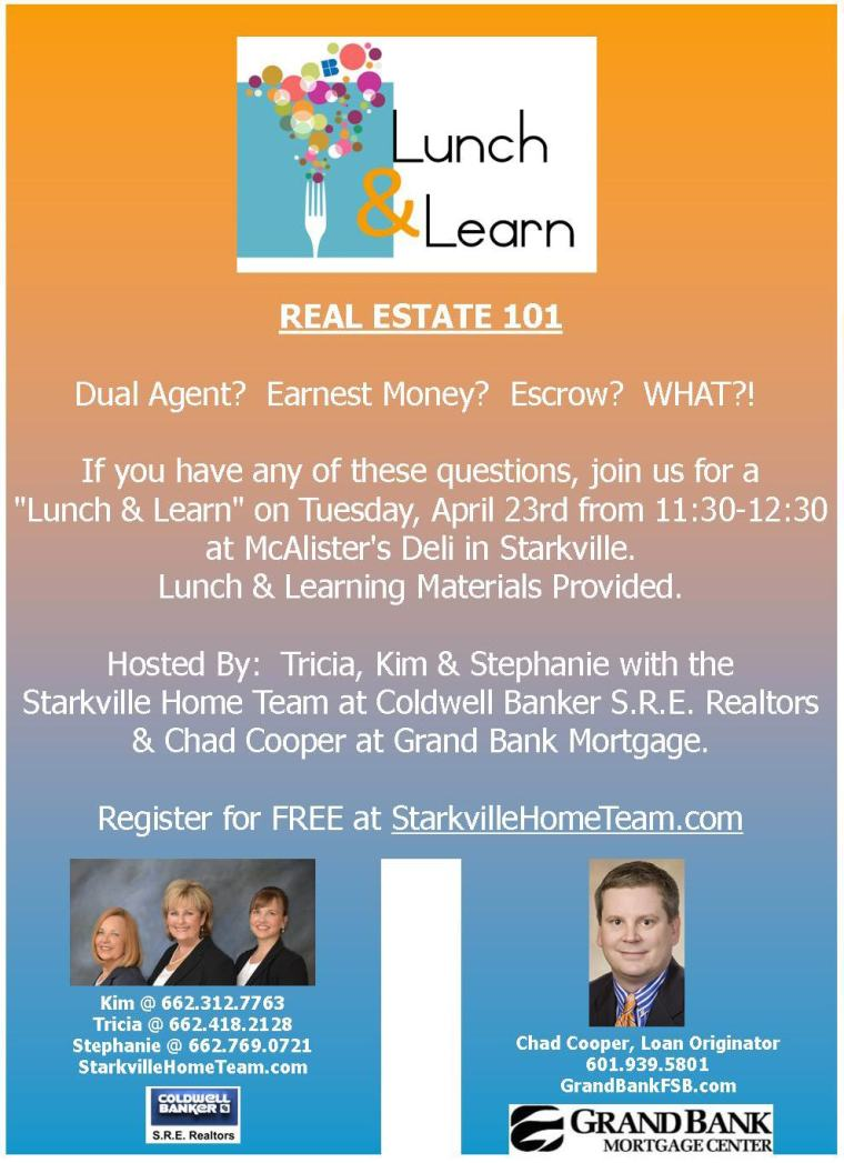 "Starkville Home Team's ""Real Estate 101"" Lunch & Learn"