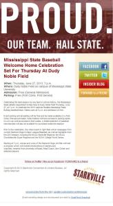 MSU Baseball Celebration