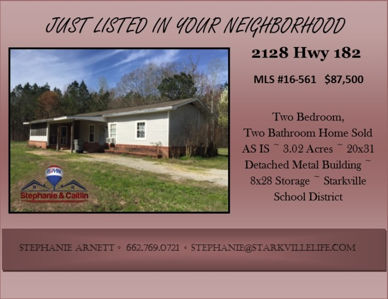 JUST LISTED Postcard - 2128 Hwy 182
