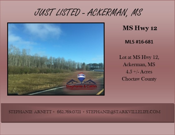 JUST LISTED- hwy 12