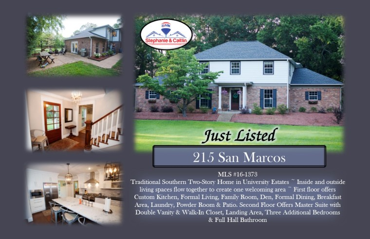 Just Listed 215 San Marcos