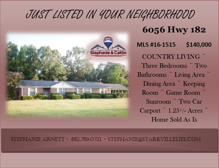 JUST LISTED- 6056 Hwy 182