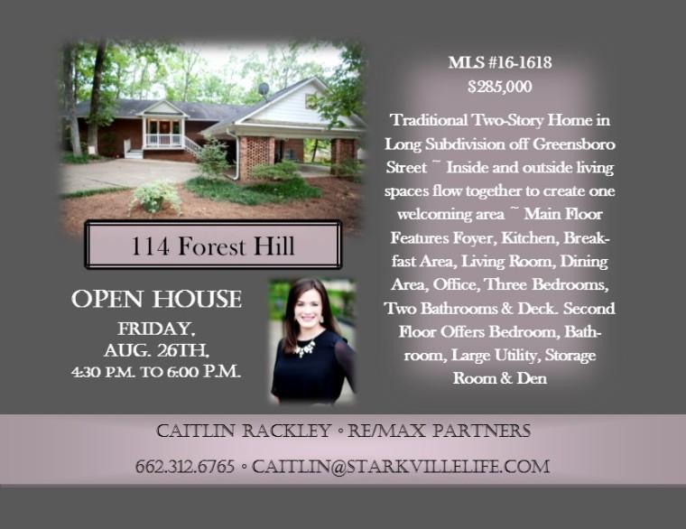 Open House Flyer - Caitlin