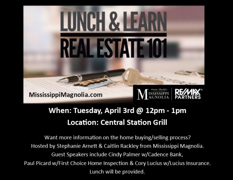 Real Estate 101 Lunch - APRIL